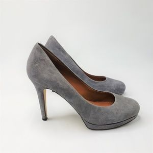 Banana Republic Suede Platform Pump Grey SZ 8